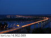 Мост через Волгу. Стоковое фото, фотограф Виктор Шилин / Фотобанк Лори