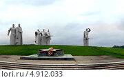 Купить «Военный мемориал 28 панфиловцы», фото № 4912033, снято 14 августа 2012 г. (c) Андрей Горбачев / Фотобанк Лори