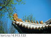 Восточный керамический дракон. Стоковое фото, фотограф Дмитрий Дорошин / Фотобанк Лори