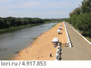 Купить «Пляж на реке урал», фото № 4917853, снято 28 июня 2013 г. (c) Иван Тимофеев / Фотобанк Лори