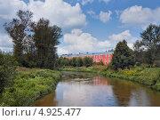 Купить «Фабрика на реке Воря. Красноармейск», фото № 4925477, снято 3 августа 2013 г. (c) Julia Shepeleva / Фотобанк Лори