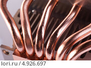 Купить «Медные трубки охладителя процессора», фото № 4926697, снято 3 августа 2013 г. (c) Стебловский Александр / Фотобанк Лори