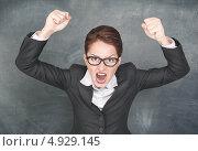 Злая женщина кричит. Стоковое фото, фотограф Darkbird77 / Фотобанк Лори