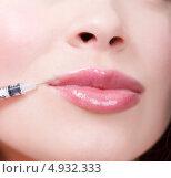 Инъекция ботокса в область губ. Стоковое фото, фотограф Nobilior / Фотобанк Лори