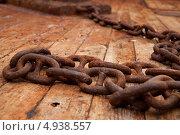 Ржавая цепь. Стоковое фото, фотограф Anna VazhoVa / Фотобанк Лори