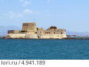 Купить «Крепость Bourtzi в середине гавани Нафплион, Греция», фото № 4941189, снято 24 июня 2013 г. (c) Boris Breytman / Фотобанк Лори