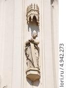 Купить «Петергоф. Готическая капелла в парке Александрия. Фрагмент», фото № 4942273, снято 4 августа 2013 г. (c) Владимир Кошарев / Фотобанк Лори