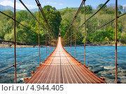Подвесной мост. Стоковое фото, фотограф Вероника Конкина / Фотобанк Лори