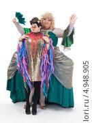 Купить «Два актера травести в женских образах», фото № 4948905, снято 11 августа 2013 г. (c) Discovod / Фотобанк Лори