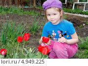 Купить «Девочка в саду», фото № 4949225, снято 17 мая 2013 г. (c) Хайрятдинов Ринат / Фотобанк Лори