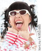 Купить «Смешная девочка в очках с хвостиками», фото № 4953685, снято 12 апреля 2008 г. (c) Syda Productions / Фотобанк Лори