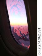 За окном самолета. Стоковое фото, фотограф Elena Ritschard / Фотобанк Лори