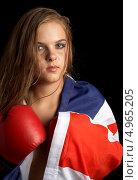 Купить «Девушка в боксерских перчатках», фото № 4965205, снято 27 июля 2006 г. (c) Syda Productions / Фотобанк Лори