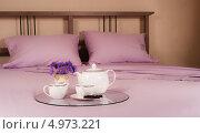Завтрак в постель. Стоковое фото, фотограф Надежда Бобкова / Фотобанк Лори