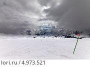 Купить «Склон для слалома, горнолыжный курорт Гудаури, Грузия», фото № 4973521, снято 25 февраля 2013 г. (c) Анна Полторацкая / Фотобанк Лори