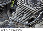 Фрагмент мотоциклетного двигателя. Стоковое фото, фотограф Александр Романов / Фотобанк Лори
