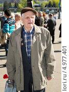 Купить «Ветеран Великой Отечественной войны. 9 мая 2013 года», эксклюзивное фото № 4977401, снято 9 мая 2013 г. (c) Михаил Ворожцов / Фотобанк Лори