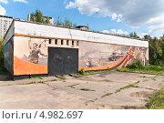 Граффити на ЦТП (2013 год). Редакционное фото, фотограф Алёшина Оксана / Фотобанк Лори