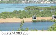 Купить «Канатная дорога в Нижнем Новгороде», видеоролик № 4983253, снято 22 августа 2013 г. (c) Nadya S. / Фотобанк Лори