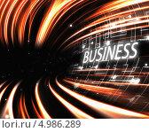 Купить «Оранжевый туннель с надписью business», иллюстрация № 4986289 (c) Wavebreak Media / Фотобанк Лори