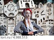 Купить «Театральное представление Лаборатории Театрика на пешеходной улице Никольской города Москвы», эксклюзивное фото № 4988513, снято 21 августа 2013 г. (c) Николай Винокуров / Фотобанк Лори