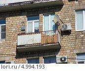 Купить «Фрагмент дома, улица Стромынка, 1, Москва», эксклюзивное фото № 4994193, снято 26 августа 2013 г. (c) lana1501 / Фотобанк Лори