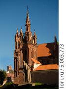 Церковь Святой Анны в Вильнюсе. Стоковое фото, фотограф Sergejus Savickis / Фотобанк Лори