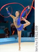 Анна Ризатдинова, Украина, на Чемпионате мира по художественной гимнастике в Киеве, фото № 5022009, снято 29 августа 2013 г. (c) Stockphoto / Фотобанк Лори