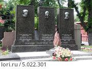 Купить «Новодевичье кладбище в Москве. Доватор. Талалихин, Панфилов», фото № 5022301, снято 9 июня 2012 г. (c) Корчагина Полина / Фотобанк Лори