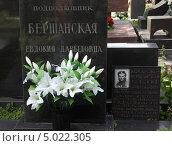 Купить «Новодевичье кладбище в Москве. Млгила Евдокии Бершанской», фото № 5022305, снято 9 июня 2012 г. (c) Корчагина Полина / Фотобанк Лори