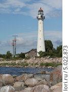 Купить «Маяк на острове Кихну, Эстония», фото № 5022873, снято 11 августа 2013 г. (c) Ирина Соколова / Фотобанк Лори