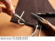 Купить «Инструменты для производства кожаных изделий», фото № 5028033, снято 22 июня 2013 г. (c) Николай Охитин / Фотобанк Лори