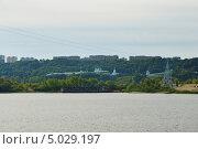 Нижний Новгород, вид на Печорский мужской монастырь и канатную дорогу (2013 год). Редакционное фото, фотограф Валерий Овчинников / Фотобанк Лори