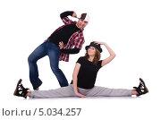 Купить «Молодая пара танцует современный танец», фото № 5034257, снято 12 февраля 2013 г. (c) Elnur / Фотобанк Лори