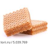 Купить «Вафли с медовой начинкой», фото № 5039769, снято 20 февраля 2012 г. (c) Natalja Stotika / Фотобанк Лори