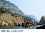 Камни на пляже Черного моря (2013 год). Стоковое фото, фотограф Виктория Кириллова / Фотобанк Лори