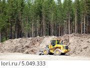 Трактор в песчаном карьере. Стоковое фото, фотограф Кекяляйнен Андрей / Фотобанк Лори
