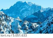 Вид на гору Мармолада зимой, Италия (2012 год). Стоковое фото, фотограф Юрий Брыкайло / Фотобанк Лори