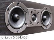 Купить «Черная акустическая система», фото № 5054453, снято 15 сентября 2013 г. (c) Владислав Осипов / Фотобанк Лори