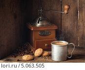 Купить «Чашка кофе и амаретти», фото № 5063505, снято 19 сентября 2013 г. (c) Лисовская Наталья / Фотобанк Лори
