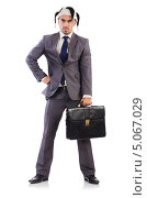 Бизнесмен в шутовском колпаке. Стоковое фото, фотограф Elnur / Фотобанк Лори