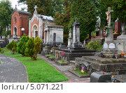 Купить «Лычаковское кладбище во Львове», фото № 5071221, снято 16 сентября 2013 г. (c) Овчинникова Ирина / Фотобанк Лори