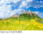 Замок Спишский Град весной, Словакия (2013 год). Стоковое фото, фотограф Сергей Новиков / Фотобанк Лори