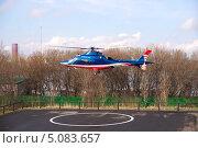 Купить «Взлет вертолета», фото № 5083657, снято 30 апреля 2013 г. (c) Охотникова Екатерина *Фототуристы* / Фотобанк Лори