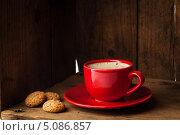 Купить «Чашка кофе с бисквитным печеньем», фото № 5086857, снято 19 сентября 2013 г. (c) Лисовская Наталья / Фотобанк Лори