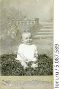 Купить «Дореволюционный кабинетный детский портрет», эксклюзивное фото № 5087589, снято 26 февраля 2020 г. (c) Михаил Ворожцов / Фотобанк Лори