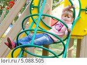 Купить «Девочка на горке», фото № 5088505, снято 7 сентября 2013 г. (c) Хайрятдинов Ринат / Фотобанк Лори