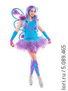 Купить «Девушка в розово-голубом костюме с крыльями бабочки», фото № 5089465, снято 17 апреля 2013 г. (c) Сергей Сухоруков / Фотобанк Лори