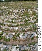 Купить «Каменный лабиринт на Большом Соловецком острове», фото № 5093761, снято 14 июля 2012 г. (c) Ирина Борсученко / Фотобанк Лори