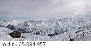 Панорама Австрийских Альп. Стоковое фото, фотограф Барабанов Максим / Фотобанк Лори